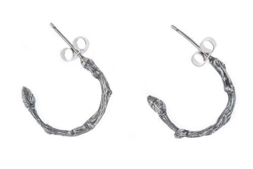 Twig hoop earrings.