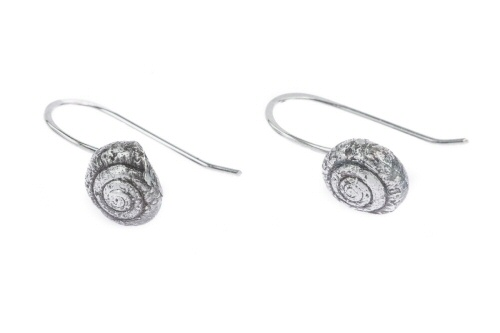 Garden snail hook earrings