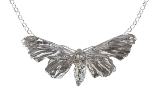 Hawk moth necklace.