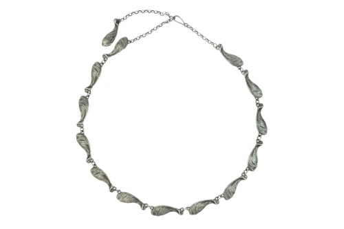 Linked Sycamore Seed necklace.