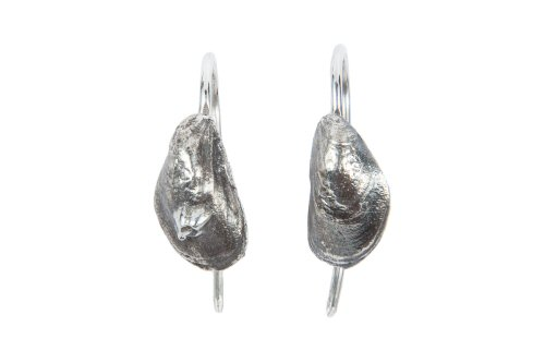 Mussel Shell Hook Earrings.