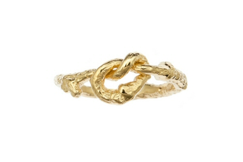 Love knot twig ring.