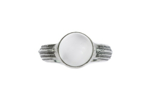Cow parsley and white moonstone ring.