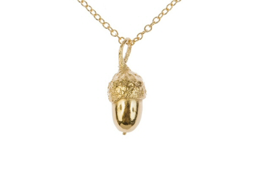 18ct gold Acorn pendant.